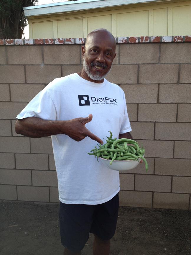 Green beans from the garden.